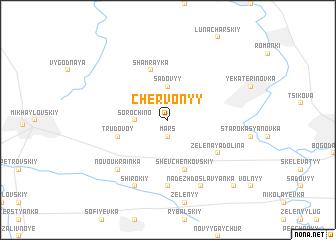 map of Chervonyy