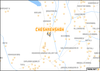 map of Cheshmeh Shāh