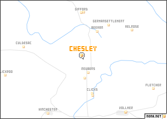 map of Chesley
