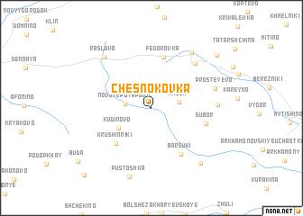 map of Chesnokovka