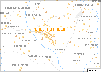 map of Chestnutfield