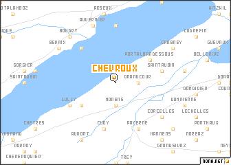 map of Chevroux