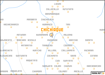 map of Chichiaque