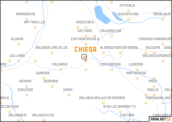 map of Chiesa