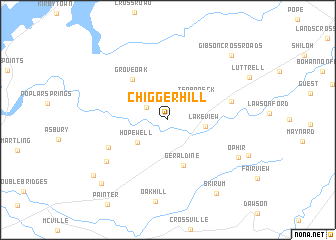 map of Chigger Hill