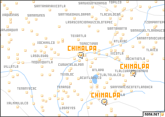 map of Chimalpa