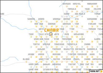 map of Chinbir