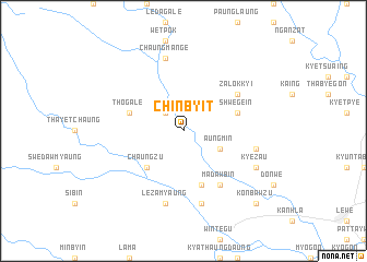 map of Chinbyit