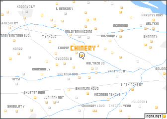 map of Chinery