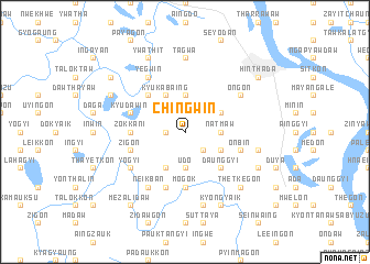 map of Chingwin