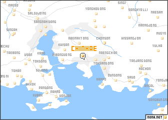 Chinhae (Korea, South) map   nona.net