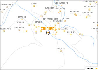 map of Chinival