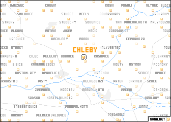 map of Chleby