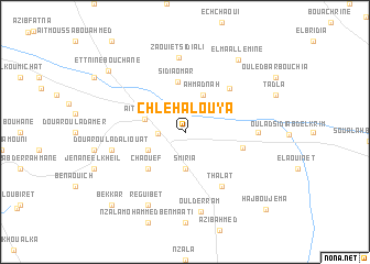 map of Chlehalouya