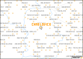 map of Chmelovice