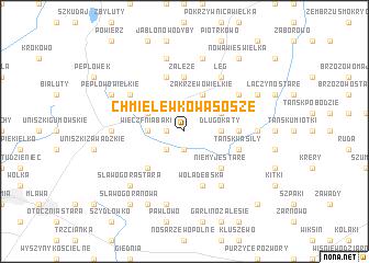 map of Chmielewko-Wąsosze