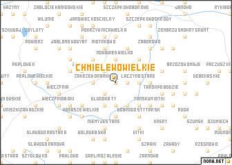 map of Chmielewo Wielkie