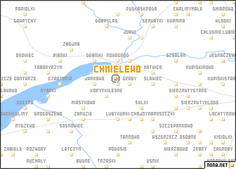 map of Chmielewo