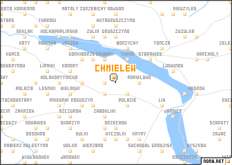 map of Chmielew