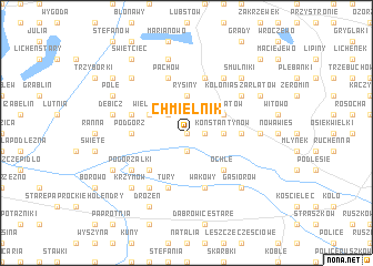 map of Chmielnik