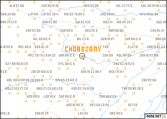map of Chobrzany