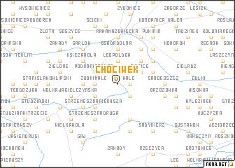 map of Chociwek