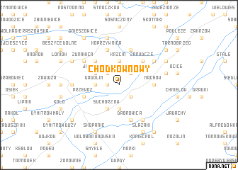 map of Chodków Nowy