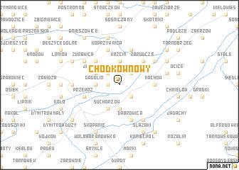 map of Chodków Nowy