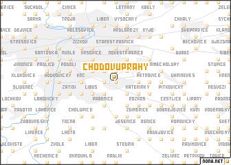 map of Chodov u Prahy