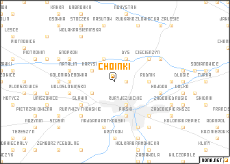 map of Choinki