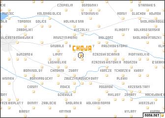 map of Choja