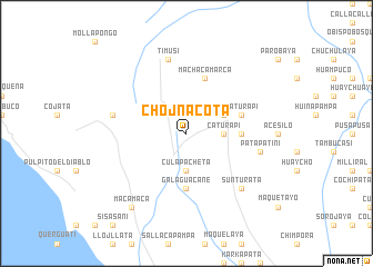 map of Chojñacota