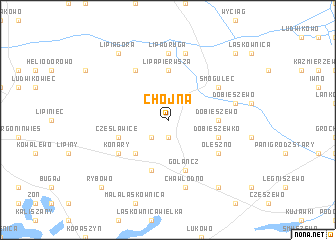 map of Chojna