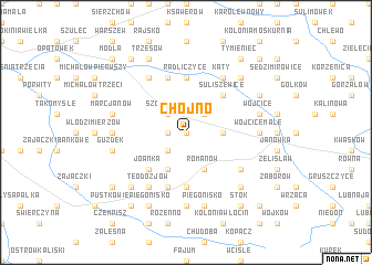 map of Chojno
