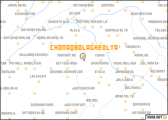 map of Chonāq Bolāgh-e 'Olyā