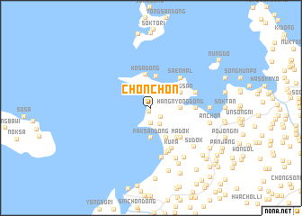map of Chŏnch\