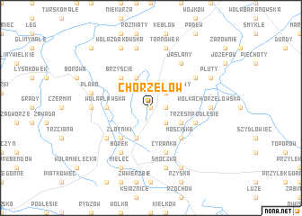 map of Chorzelów