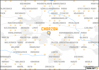 map of Chorzów