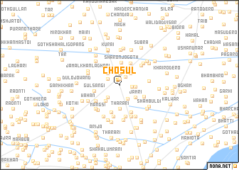 map of Chosūl