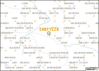 map of Chotycze