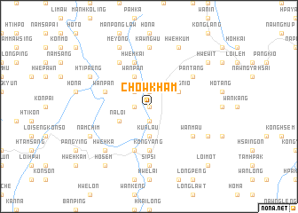 map of Chowkham