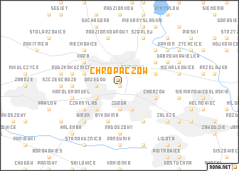 map of Chropaczów