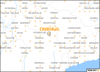 map of Chuaxajil
