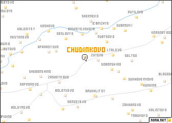 map of Chudinkovo