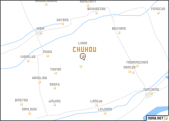 map of Chuhou