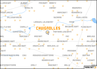 map of Chuignolles