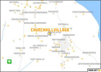 map of Church Hill Village