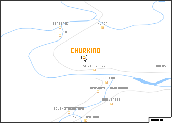 map of Churkino