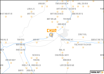Chur Switzerland map nonanet
