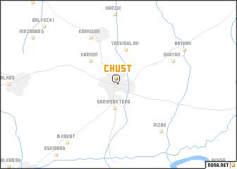 Chust Uzbekistan map nonanet